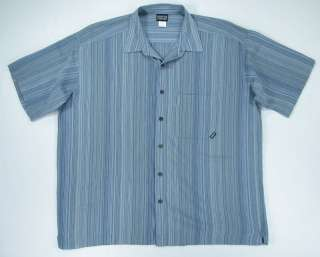 PATAGONIA MENS XL ORGANIC COTTON STRIPED BUTTON CAMP SHIRT S/S