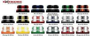 NEW Club Car Precedent Golf Cart Custom Seats l 12 Color Combinations