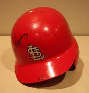 Tom Pagnozzi Game Used Helmet St. Louis Cardinals