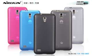 Jelly Soft Skin Silicone Case +LCD Screen protector Guard for HUAWEI