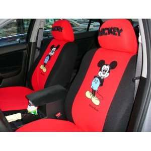 6pcs Mickey Mouse Car Seat Cover Red buy Now Free Gift