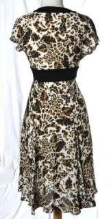 Diane Von Furstenberg Ivory Leopard Print Silk Flutter Signatue Wrap