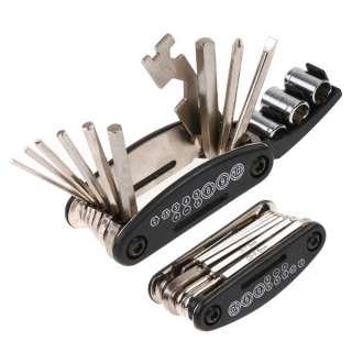 Bicycle Tyre Repair Multifunctional Tool Set Kit portable mini Pump