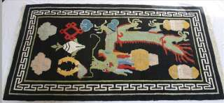 Handmade Tibetan Rug Carpet for Collection or Wall Display Tibet Nepal