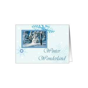 Snowy Trees Winter Wonderland Christmas Card Card Health