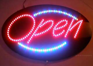 XLG 27x15 LED Lighted OPEN SIGN Cafe Concession Trailer