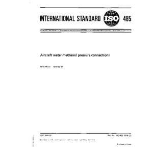 ISO 485:1973, Aircraft water methanol pressure connections: ISO