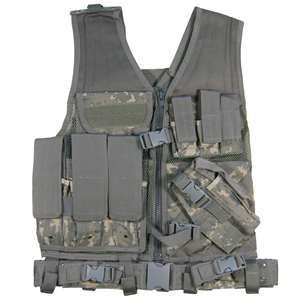 XL DeluxeTactical Vest w Holster Ammo Pouch + Belt ARMY ACU DIGITAL