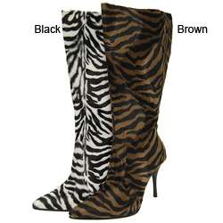 Liliana by Adi Womens Zebra Print Boots