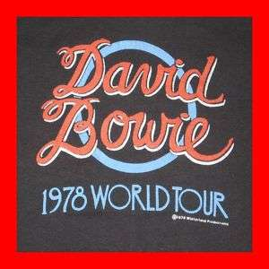1978 DAVID BOWIE ORIGINAL TOUR T SHIRT VTG 70s concert