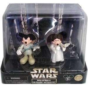 DISNEY Star Wars Tours Mickey Luke Jedi Minnie Leia Set
