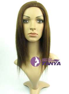 Full Lace / Lace Front Wig 12 #4 Silky Straight _ 100% Indian Remy
