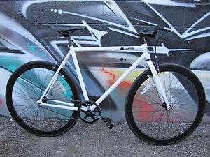Kromica Shadow White fixed gear single speed bike