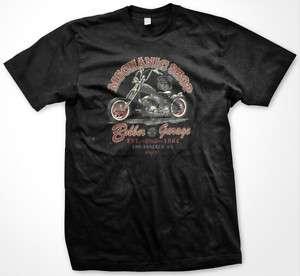 Mechanics Shop Bobber Garage Biker Chopper Men T shirt