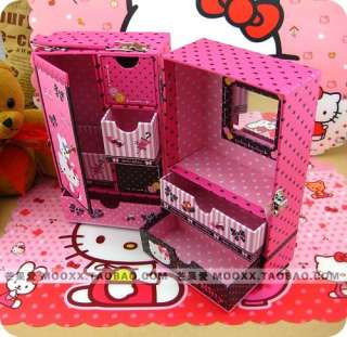 Newest Hello kitty Jewelry COSMETIC STORAGE DRAWER CASE BOX