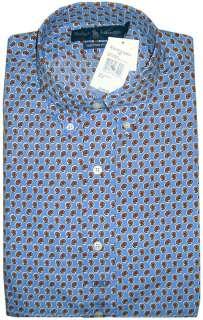 NWT $145 Polo Ralph Lauren Custom Fit Mens Button Front Shirt Blue