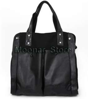 Black Large PU Leather Women Hobo Purse Handbag Shoulder Totes Bag