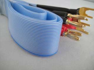 Amplifier Audio CD Player Speaker Banana + Fork Ribbon Flat Cable 2m
