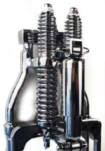Harley Stock Chrome Hardbody Springer Front End Shock Dampener FLST XL