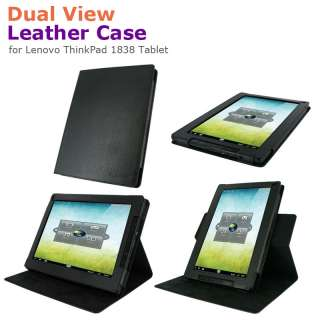 Leather Folio Case Stand Cover for Lenovo ThinkPad 1838 Tablet