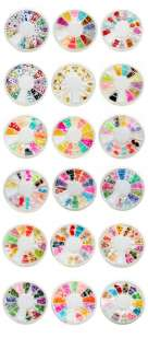 18 styles Nail Art Rhinestones Glitters Acrylic Tips Decoration Wheel