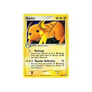 Pokemon Ex Fire Red Leaf Green Foil Rare Raichu 12/112