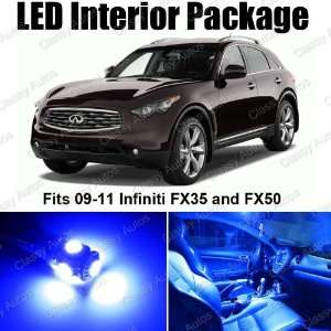 Infiniti FX35 and FX50 Blue Interior LED Package (12
