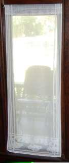 Arts & Crafts Gingko Narrow Lace Curtain Panel