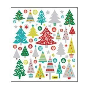 Tattoo King Multi Colored Stickers Glitter Christmas Trees