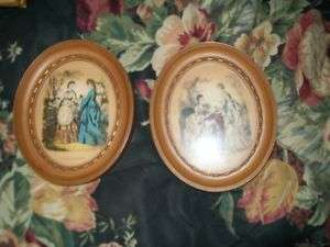 LOT ART DECO VICTORIAN WOMEN OVAL PICTURE