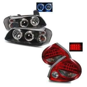 Maxima Black LED Halo Projector Headlights + LED Tail Lights Combo