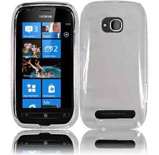 For Nokia Lumia 710 HARD Protector Case Snap on Phone Cover Crystal