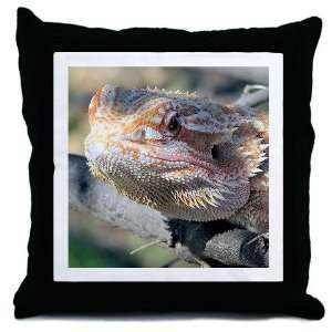 Bearded Dragon 001 Pets Throw Pillow by CafePress: Home
