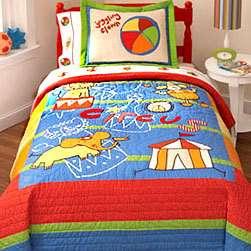 CIRCUS CLOWNS Bed Blanket Pillow Sham QUILT BEDDING SET