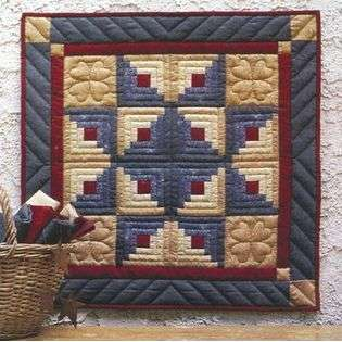 Rachels Of Greenfield Log Cabin Star Wall Hanging Quilt Kit 22X22 at