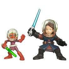 Star Wars Galactic Heroes Action Figures   Ahsoka and Anakin Skywalker