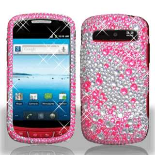 Pink Silver Crystal Diamond BLING Hard Case Phone Cover Samsung Admire