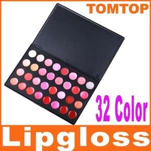 Professional 32 Color Cosmetic Lip Lips Gloss Lipsticks Makeup Palette