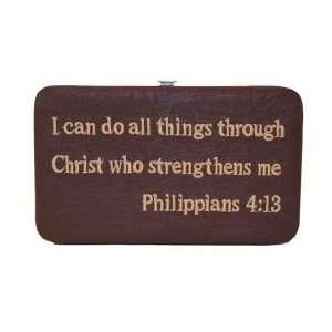 Womens Treasures and Treasures FW001 Bible Verse Wallet