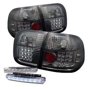 Eautolights 96 98 Honda Civic 4 Door LED Tail Lights + LED