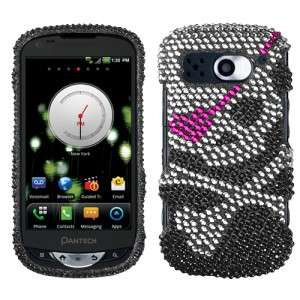 Skull Crystal Diamond BLING Hard Case Phone Cover for Verizon Pantech