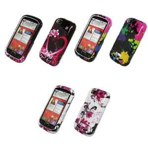 EMPIRE 3 Pack of Design Hard Case Covers (Heart Flower, Paint Splatter