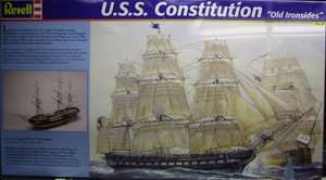 Revell X Monogram USS Constitution sailing ship model kit 1/96