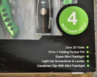 NEW IN BOX~THE SHARPER IMAGE~MULTI PURPOSE TOOL SET~4 MUST HAVE ITEMS