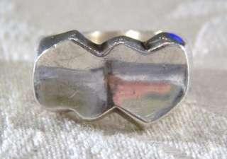 ANTIQUE STERLING SILVER MODERN HUGE HEAVY HEART RING