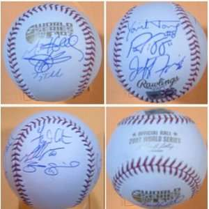 Colorado Rockies 2007 Multi Signed World Series Baseball
