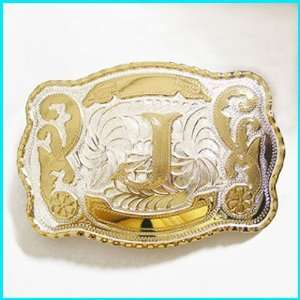 New Western English Letters J Belt Buckle WT 078J