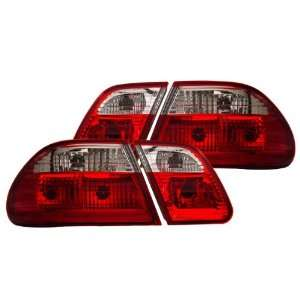 00 02 Mercedes E Class W210 Red/Clear Tail Lights