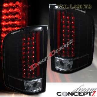 2007 2010 CHEVY SILVERADO 1500 2500HD 3500 LED TAIL LIGHTS BLACK