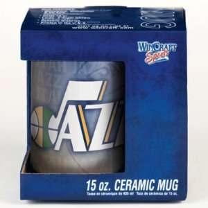 UTAH JAZZ 15OZ CERAMIC COFFEE MUG Sports & Outdoors